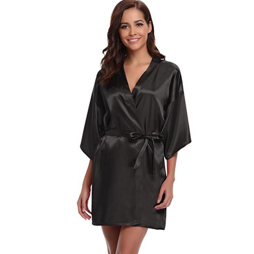 Silk Kimono Robe Ladies Dressing Gowns - asheers4u