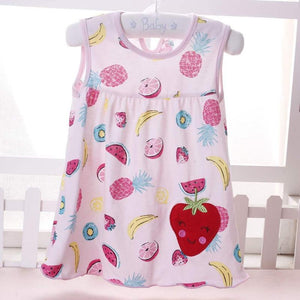 Flower Printed Toddlers Princess Dresses - asheers4u