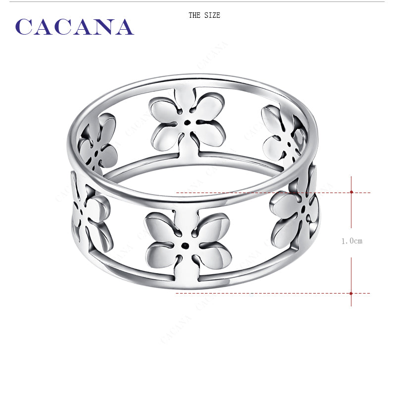 Anniversary Gift Finger Rings With Five Petals Women Fashion Jewelry - asheers4u