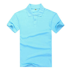 Short Sleeve Male Cotton Polo Shirt Print Slim Fit - asheers4u