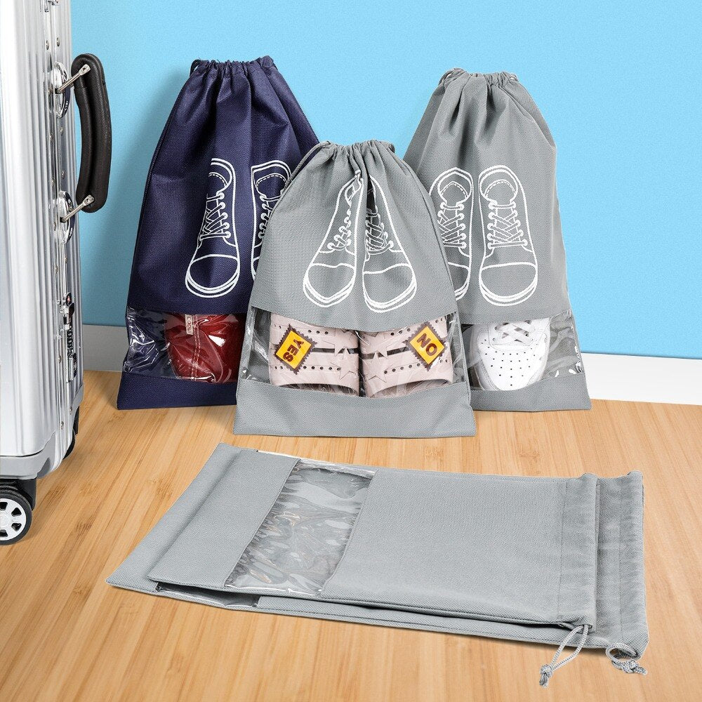 Waterproof Travel Dust proof Shoe Storage Drawstring Bag - asheers4u