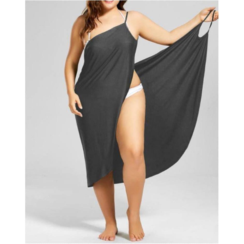 Plus Size Women Beach Dress Sexy Sling Dress - asheers4u
