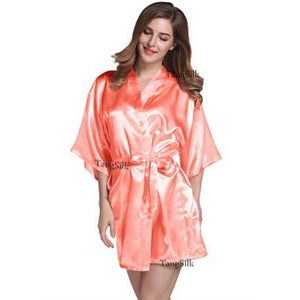 Faux Silk Wedding Bridal Sisters Dressing Gown/ Kimono Bathrobes - asheers4u