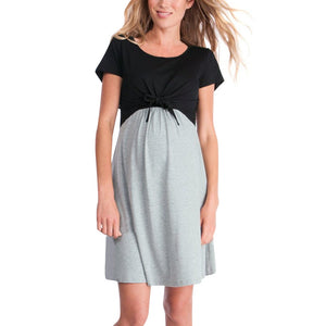 Pregnant Women Splice Nursing Maternity dress - asheers4u