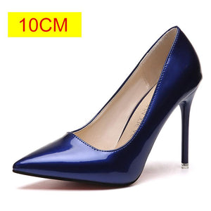 Pointed Toe Patent Leather High Heels Women Shoes (Plus Size 34-44 ) - asheers4u