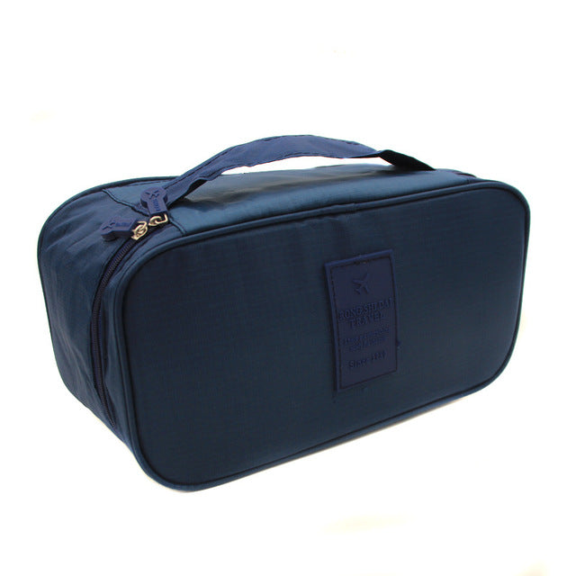 Travel Bra Underwear Cosmetic Toiletries Organizer Storage Bag - asheers4u