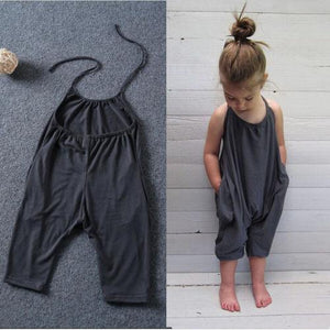 Baby Girl Solid Jumpsuit  Sunsuits Outfit Clothes - asheers4u