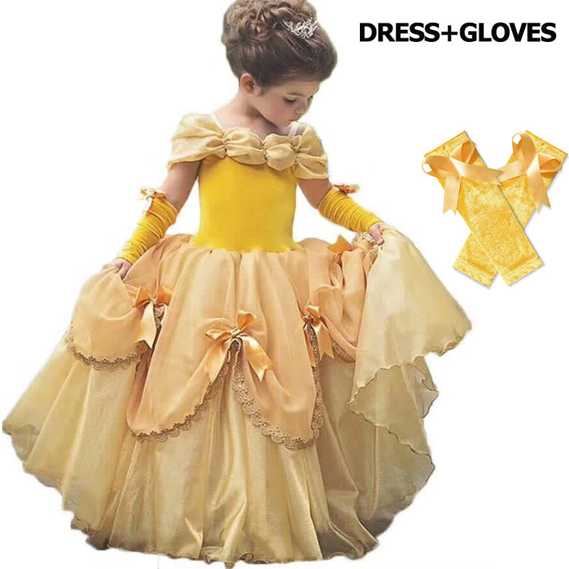Baby Girls Beauty and the Beast Princess Costume - asheers4u