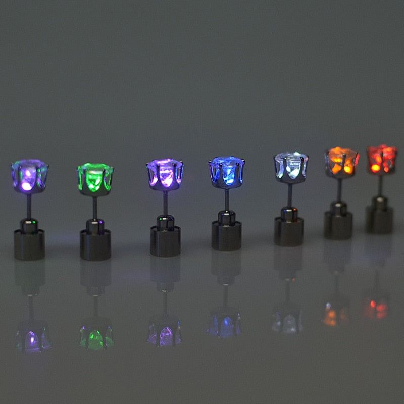 LED Crystal Earring Stud - asheers4u