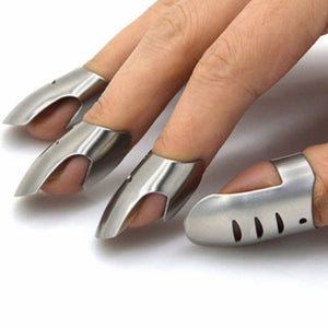 Stainless Steel Finger Hand Guard 4pcs/set - asheers4u