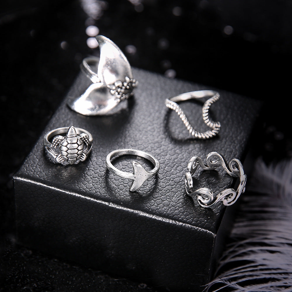 Women Knuckle Finger Charm Jewelry 5pcs Set - asheers4u