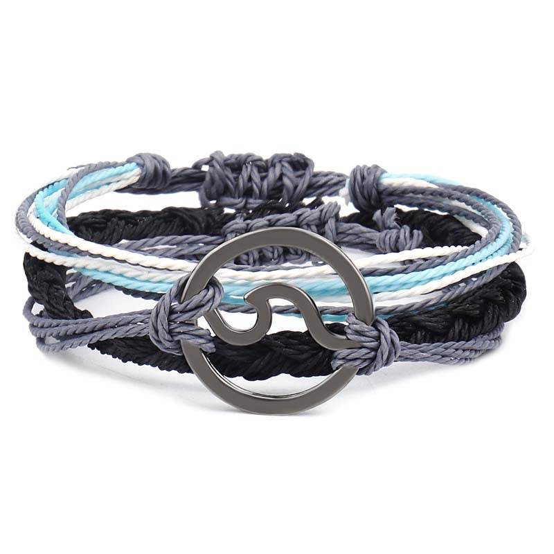 New Wave Charm Bracelet 3pcs\set for Men Women Urban Wear - asheers4u