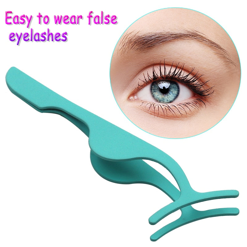 False Eyelash Tweezers/ Applicator/ Extension Makeup Clip - asheers4u