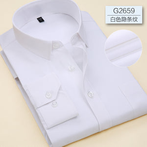 Men Long Sleeve  Branded Business Office Formal Shirts - asheers4u