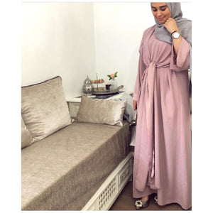 Two pieces Robe Muslim Women Turkish Dubai fashion kaftan - asheers4u