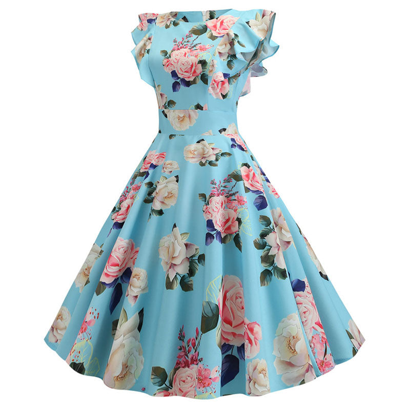 Plus Size Floral Dress - asheers4u