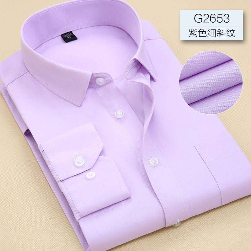 Men Long Sleeve Business Office Formal Men Shirt (Plus Size Available upto 7XL) - asheers4u