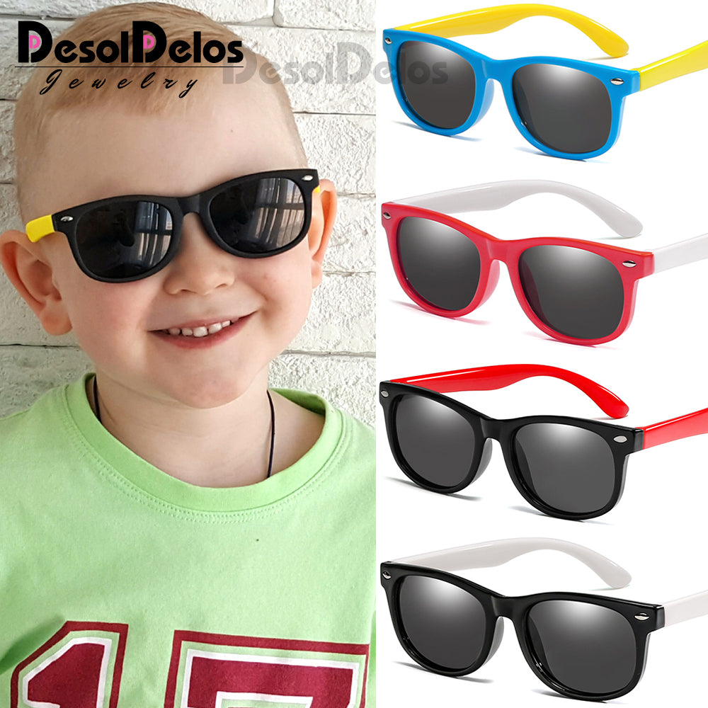 Polarized Classic Kids Sun glasses UV400 Protection - asheers4u