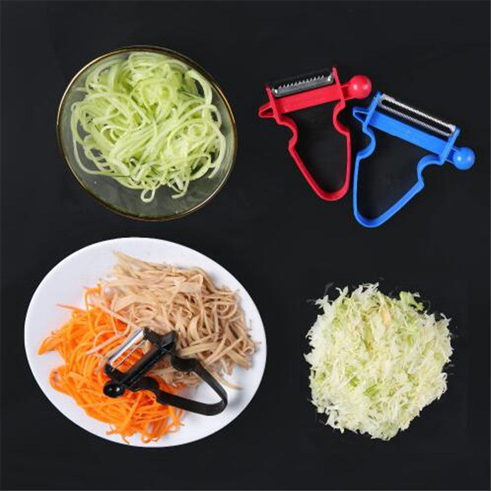 Magic Slicer Shredder Peeler Cutter Stainless Steel Trio Set - asheers4u