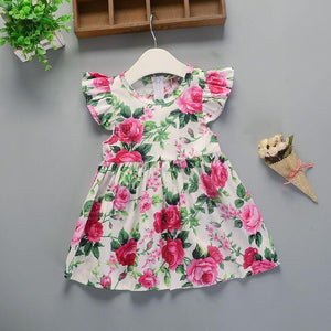 Baby Girl Cotton Floral Princess Tutu Dresses - asheers4u