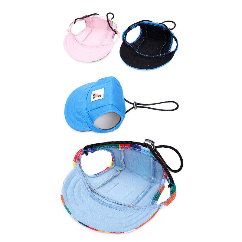 Summer shade puppy hats Visor Cap With Ear Holes Pet Products - asheers4u