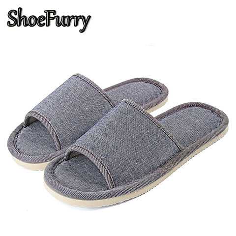 Indoor Casual Breathable Sweat Linen Home Slippers - asheers4u