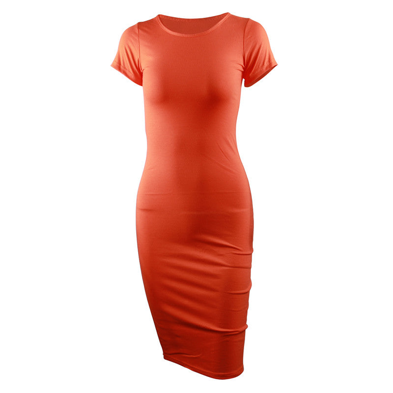 Cotton Long Pencil Party Dress for Women - asheers4u
