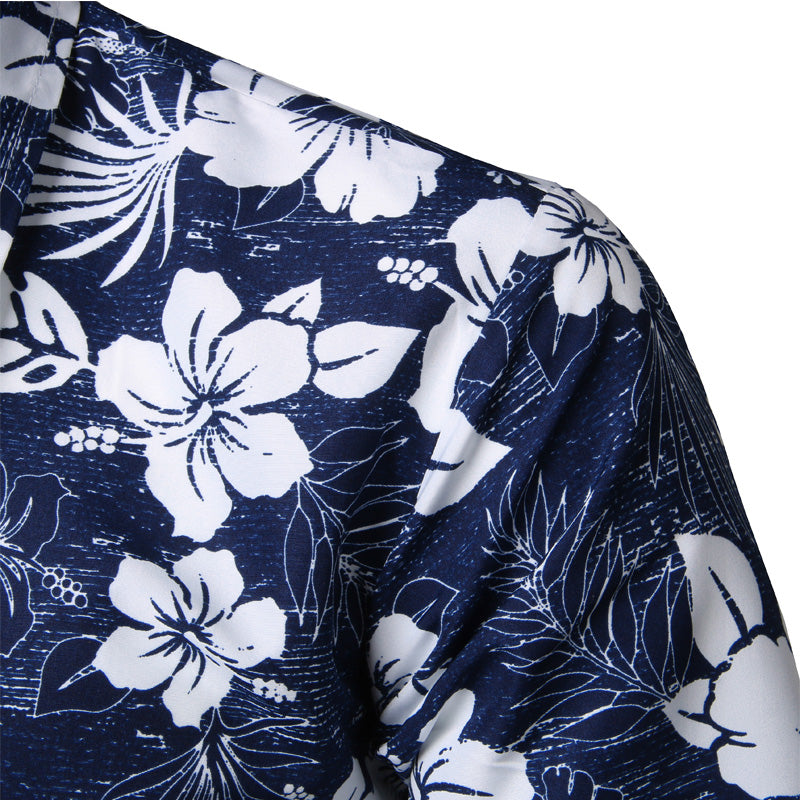 Mens Summer Beach Hawaiian Shirt - asheers4u