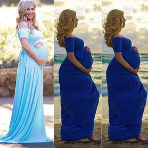 Maternity gown Floral Dress for Pregnancy Photoshoot - asheers4u