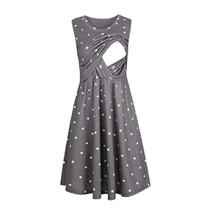 Sleeveless Nursing dress for Pregnant Women - asheers4u