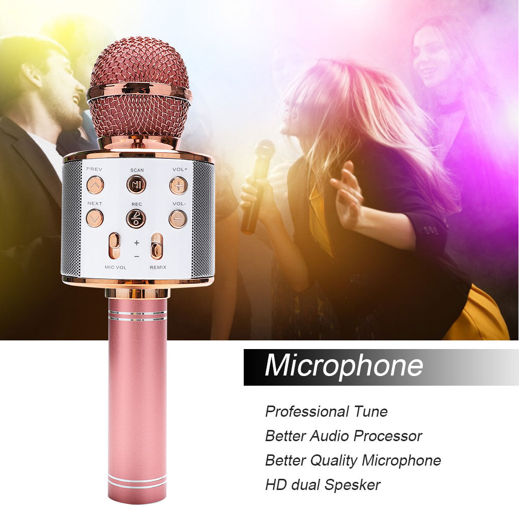 Wireless Bluetooth Karaoke Microphone - asheers4u