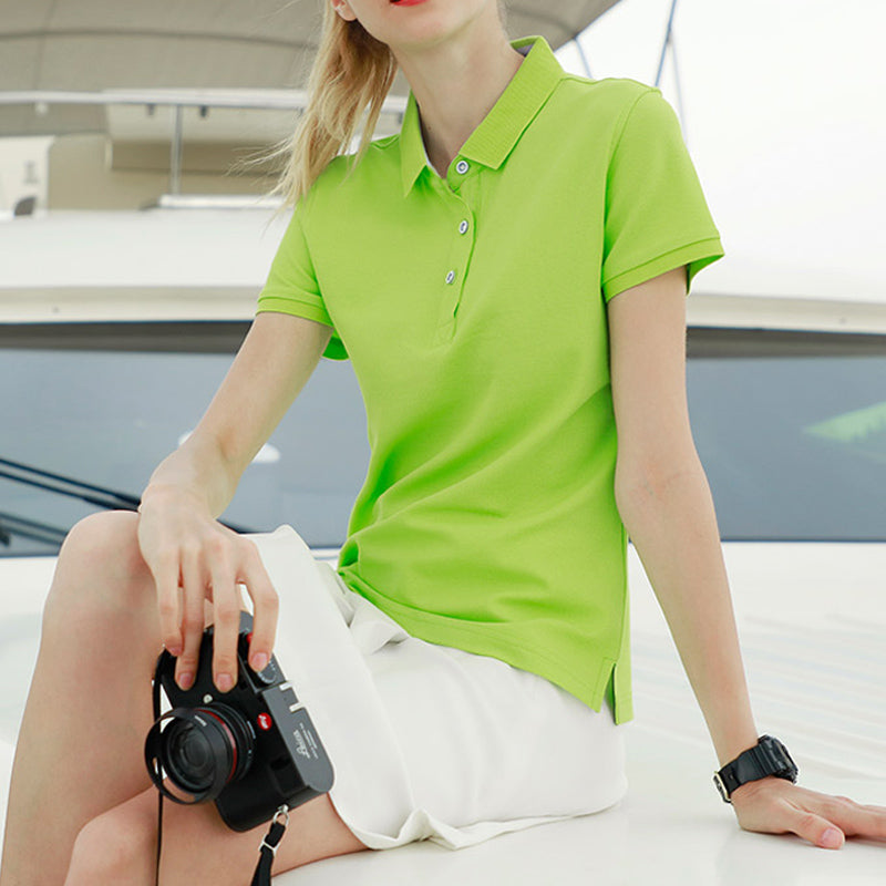 Casual Short Sleeve Slim Polo Tops - asheers4u
