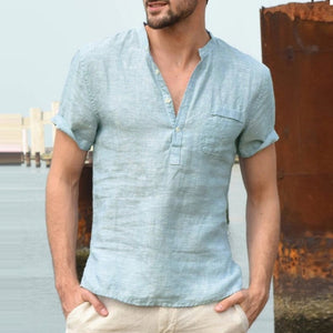 Comfortable Pure Cotton Linen Men Shirts and Pant/ Pajama - asheers4u