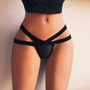 Sexy High Waist See through intimate Cotton Thongs - asheers4u