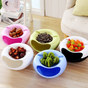 Double Layer Bowl with Phone Holder - asheers4u