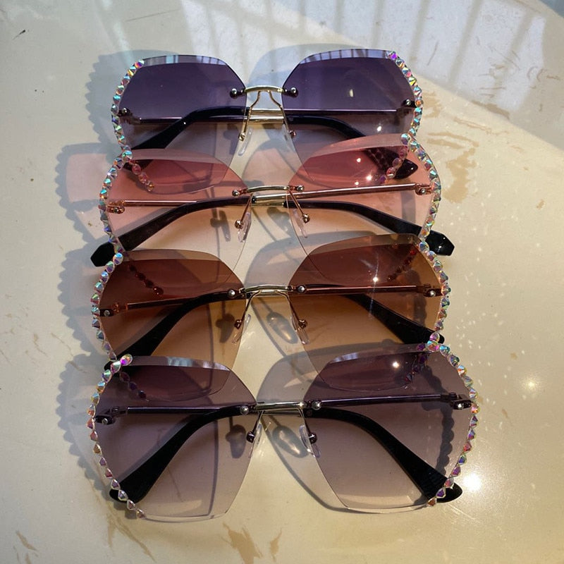 Fashion Crystal Sunglasses - asheers4u