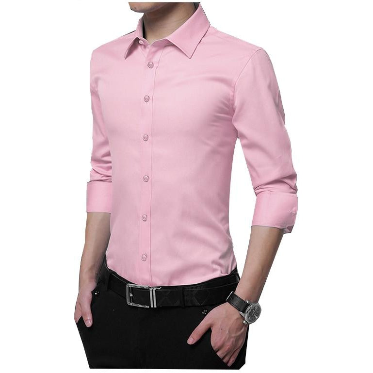 Long Sleeve Business Work Shirt - asheers4u