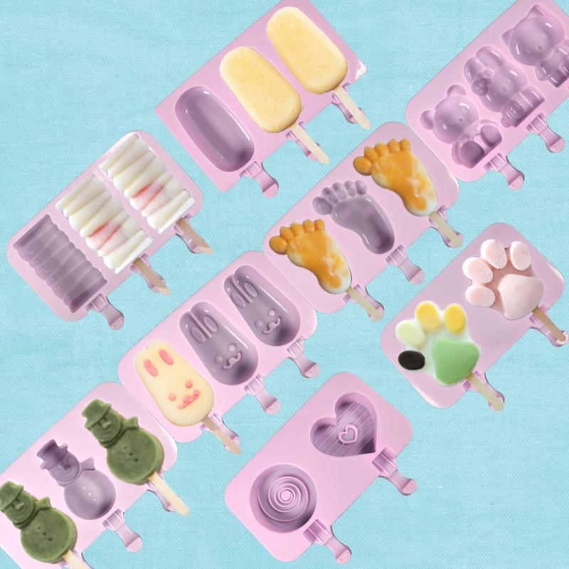 Homemade Cartoon Ice Cream Popsicle Ice Pop Maker Mould - asheers4u