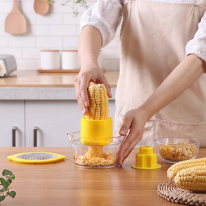 4in1 Kitchen Corn Slicer Peeler With Built-In Measuring Cup - asheers4u