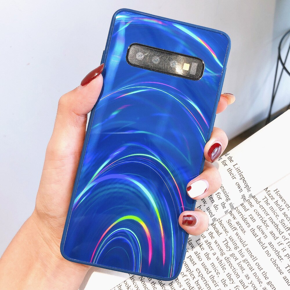 3D Rainbow Glitter Case for Samsung S20 S10 S9+ S8 A11 A51 A21S A7 2018 A50 M30S Note 10 Pro Cases Holographic Prism Laser Cover - asheers4u