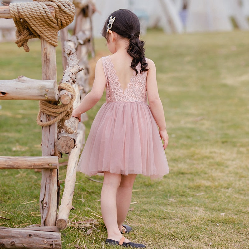 Birthday Princess Dress in 4 Colors for 1 to 5 Years Girls - asheers4u