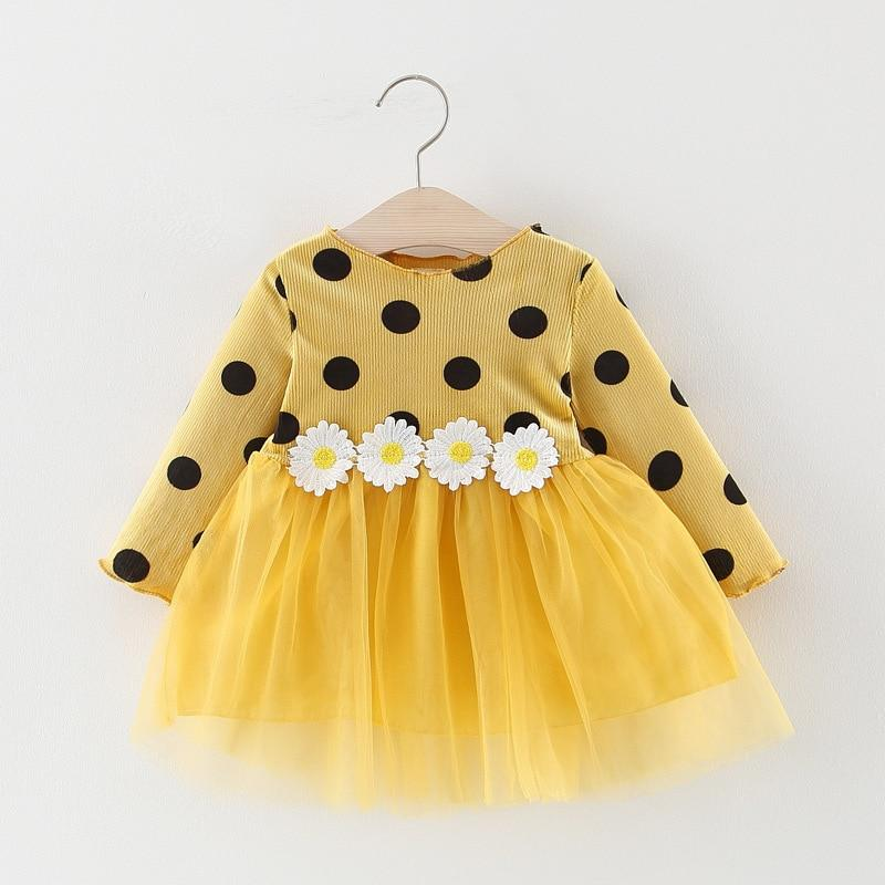 Long Sleeve Infant Polka Dress - asheers4u