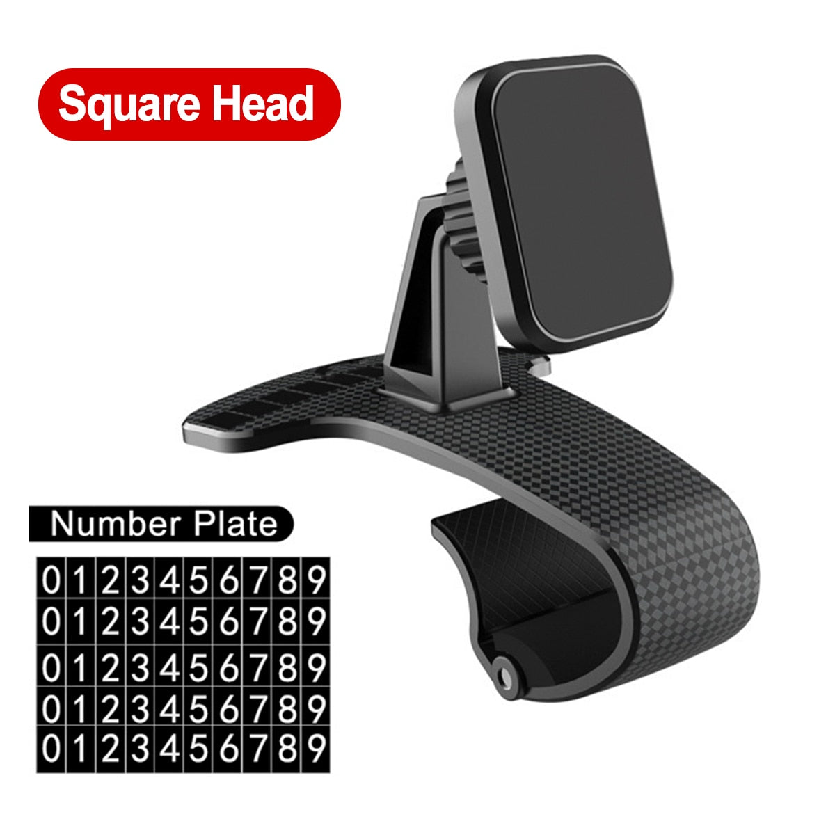 Dashboard Mobile Phone Holder With Parking Card