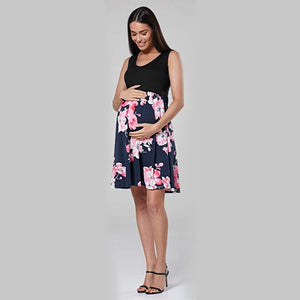 Floral Sleeveless Pregnancy Breastfeeding Nursing Clothes For Pregnant Women - asheers4u