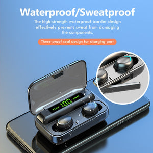 TWS Bluetooth Earphones Touch Control Wireless Headphones with Mic Sports Waterproof Wireless Earbuds 9D Stereo Headsets Fone