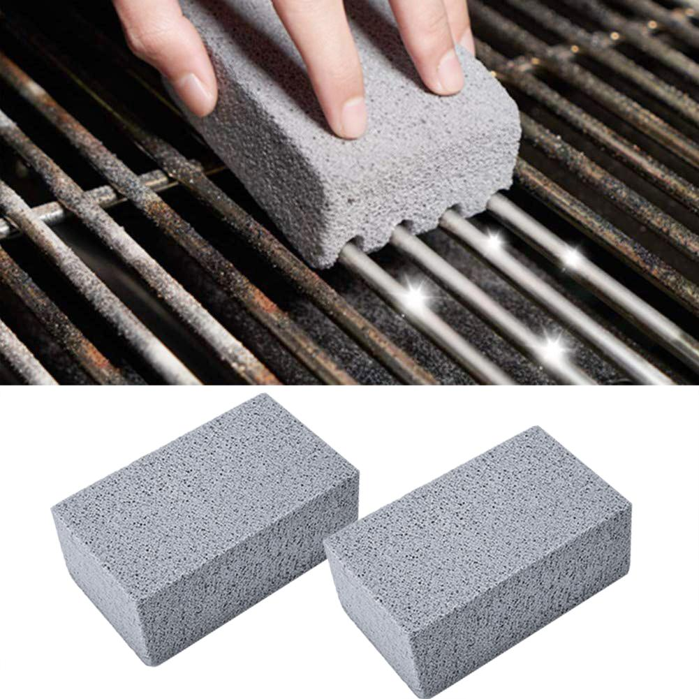 2Pcs BBQ Grill Cleaning Brick Block Barbecue Cleaning Stone BBQ Racks Stains Grease Cleaner BBQ Tools Kitchen Decorates Gadgets