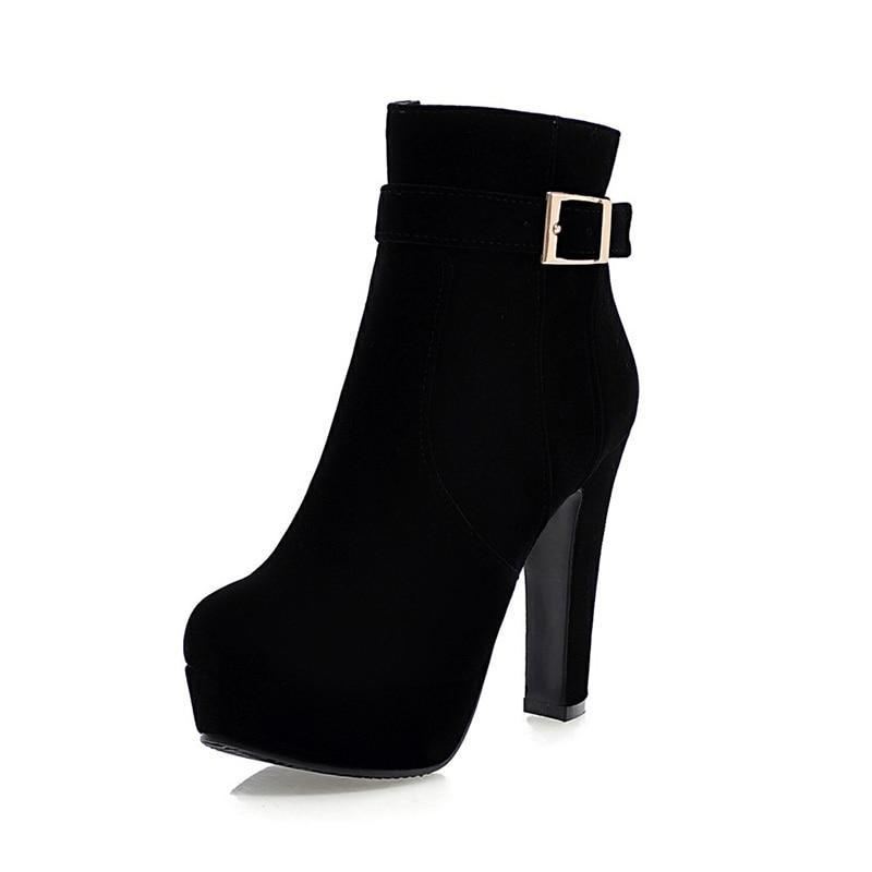 High Heels Ankle Boots - asheers4u