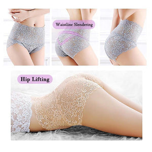 High Waist Lace Butt Lift Up Panties - asheers4u
