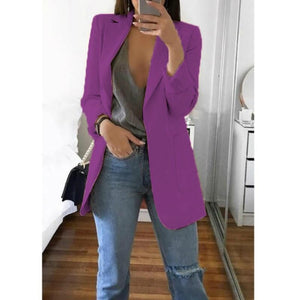 Large Size Casual Women's Blazer for office interview - asheers4u