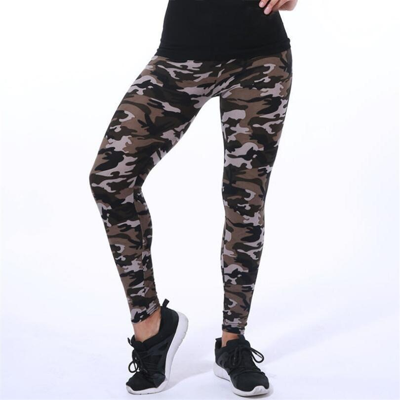 L Size Camouflage Army Green Leggings Pants - asheers4u
